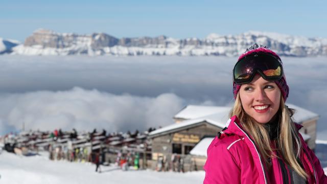Prapoutel / Les 7 Laux : le domaine skiable des 7 Laux et ses restaurants d'altitude pour une pause face à un panorama exceptionnel