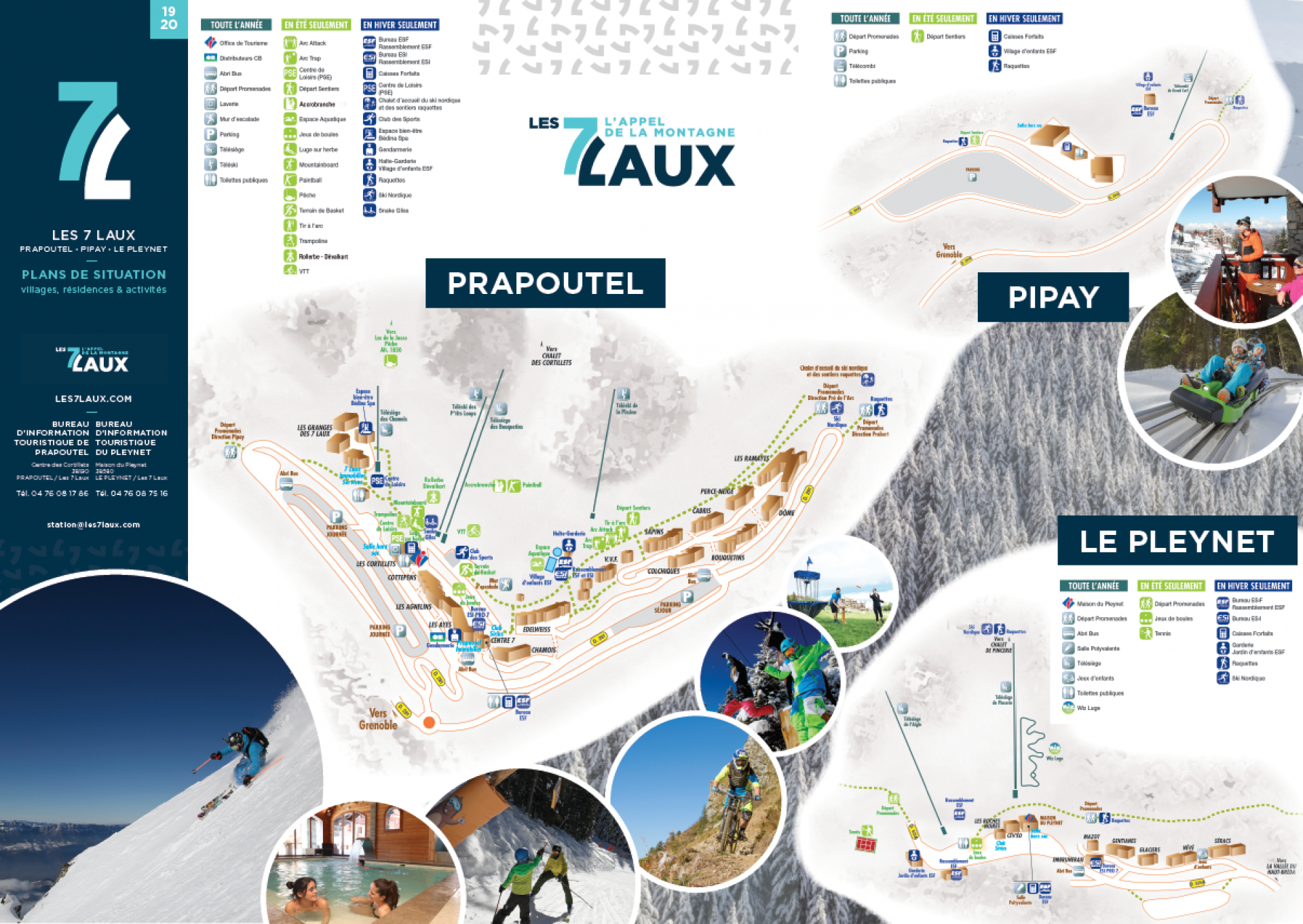 Les 7 Laux Plan De Station